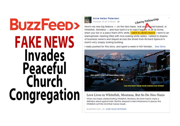 FAKE NEWS Invades  Peaceful Church  Congregation